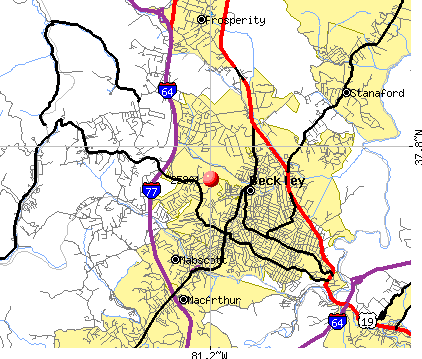 Beckley, WV (25801) map