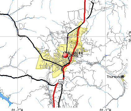 Oak Hill, WV (25901) map