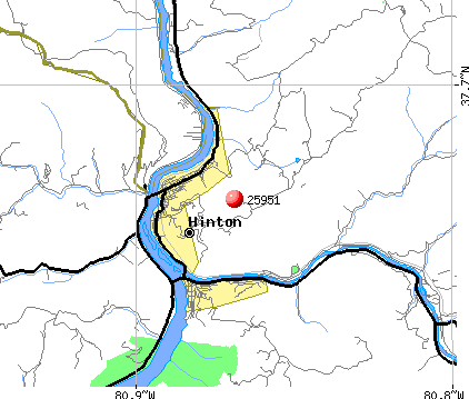 Hinton, WV (25951) map