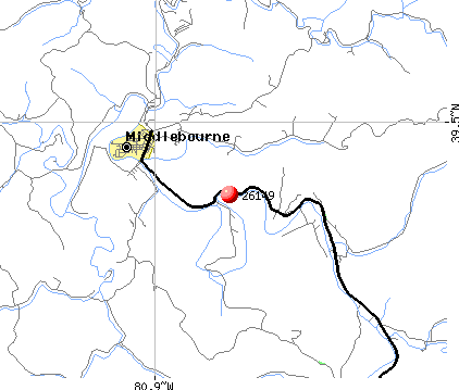 Middlebourne, WV (26149) map