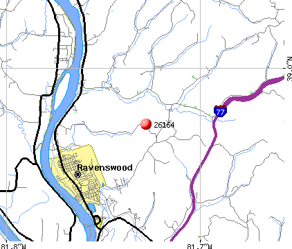 Ravenswood, WV (26164) map