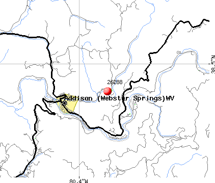 Addison (Webster Springs), WV (26288) map