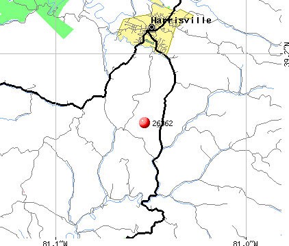 Harrisville, WV (26362) map