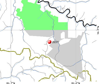 Jacksonburg, WV (26377) map