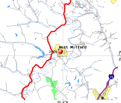 West Milford, WV (26451) map