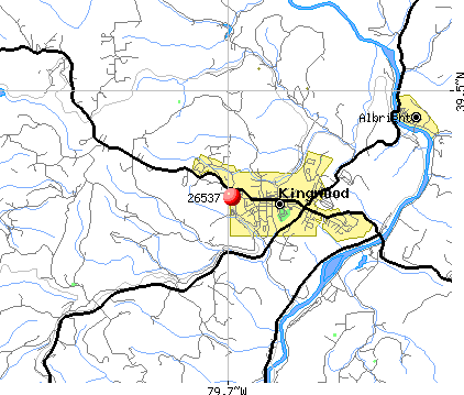 Kingwood, WV (26537) map