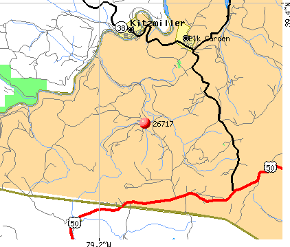 Elk Garden, WV (26717) map