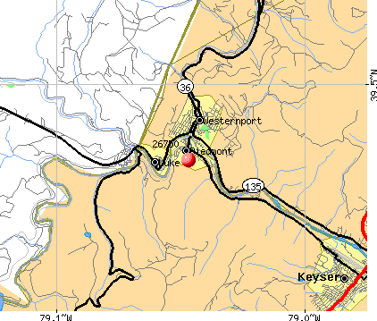 Piedmont, WV (26750) map