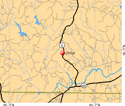Germanton, NC (27019) map