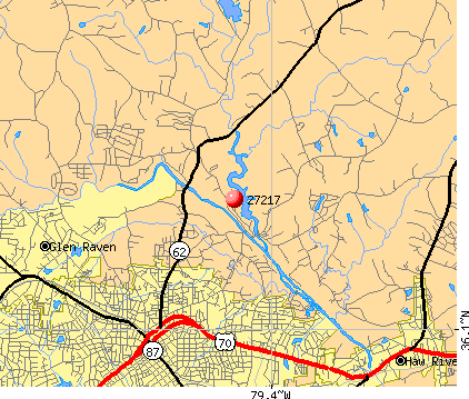 Burlington, NC (27217) map
