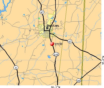 Denton, NC (27239) map