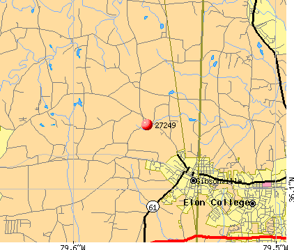 Gibsonville, NC (27249) map