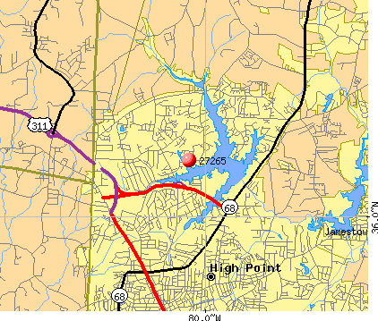 High Point, NC (27265) map