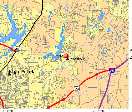 High Point, NC (27282) map