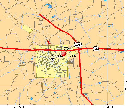 Siler City, NC (27344) map