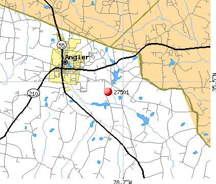 Angier, NC (27501) map