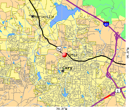 Cary, NC (27513) map