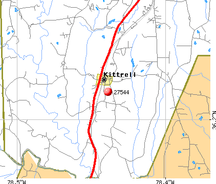 Kittrell, NC (27544) map