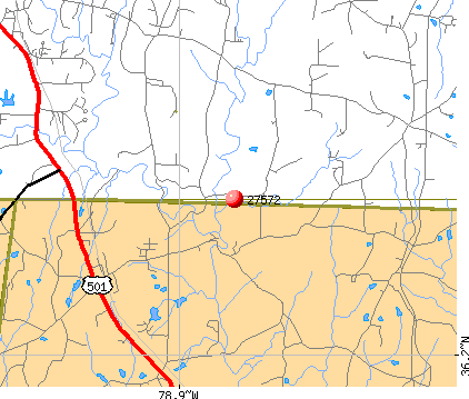 Rougemont, NC (27572) map