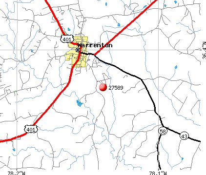 Warrenton, NC (27589) map