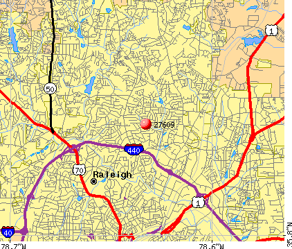 Raleigh, NC (27609) map