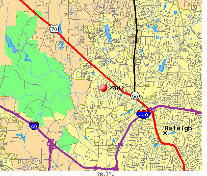 Raleigh, NC (27612) map