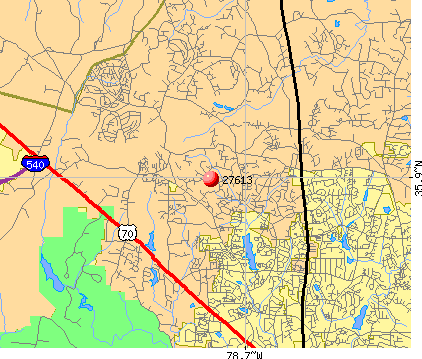 Raleigh, NC (27613) map