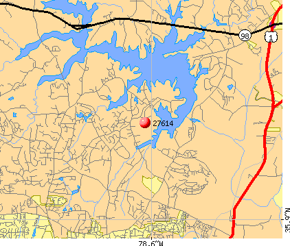 Raleigh, NC (27614) map