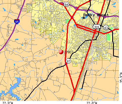 Rocky Mount, NC (27803) map