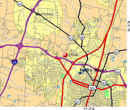 Rocky Mount, NC (27804) map