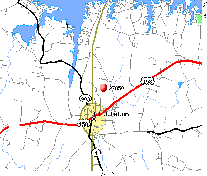 Littleton, NC (27850) map