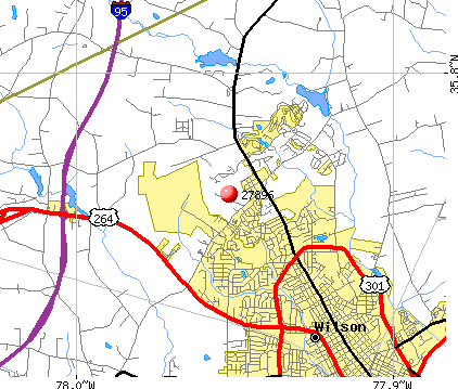 Wilson, NC (27896) map