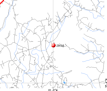 Bostic, NC (28018) map