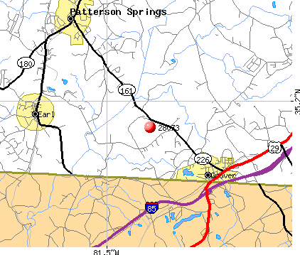 Grover, NC (28073) map