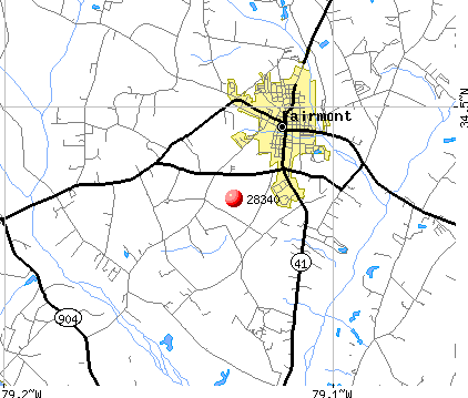 Fairmont, NC (28340) map