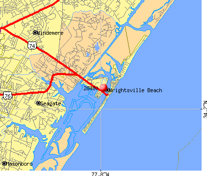 Wrightsville Beach, NC (28480) map