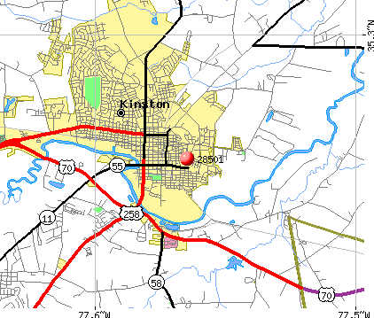 Kinston, NC (28501) map