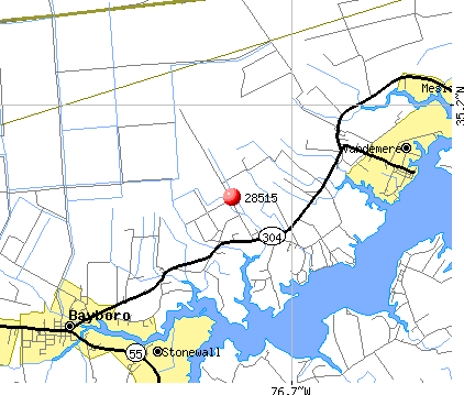 Bayboro, NC (28515) map