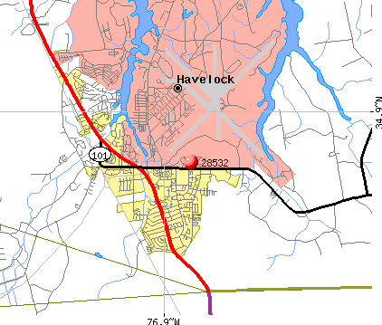 Havelock, NC (28532) map