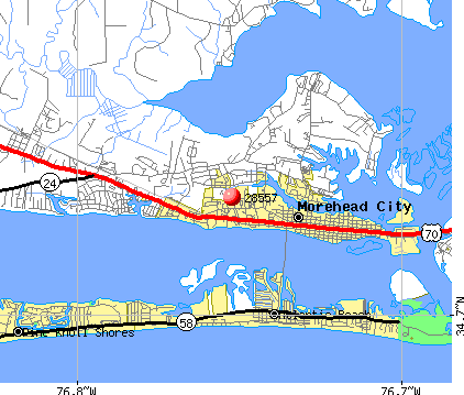 Morehead City, NC (28557) map
