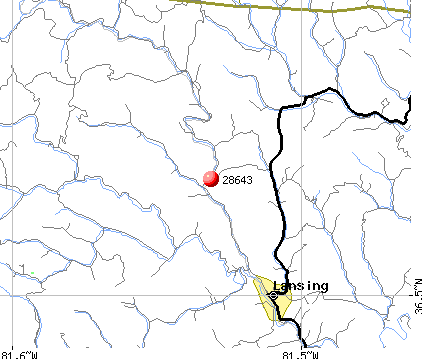 Lansing, NC (28643) map