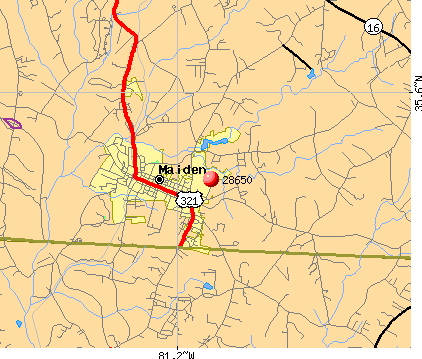 Maiden, NC (28650) map