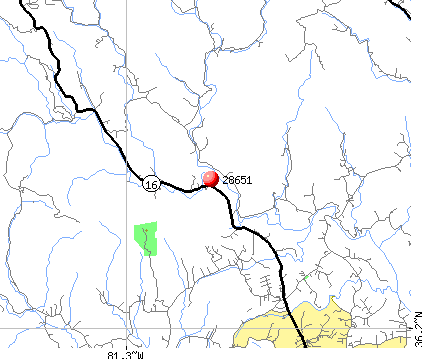 Millers Creek, NC (28651) map