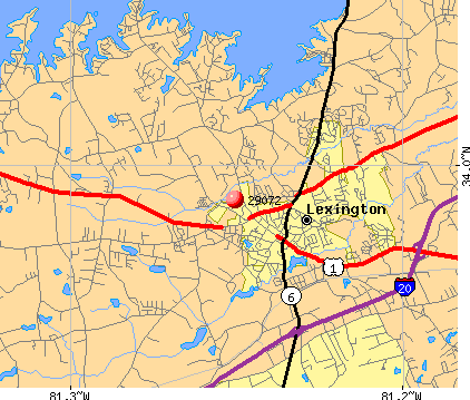 Lexington, SC (29072) map