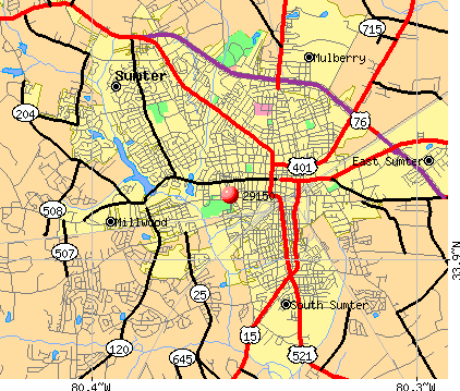 Sumter, SC (29150) map