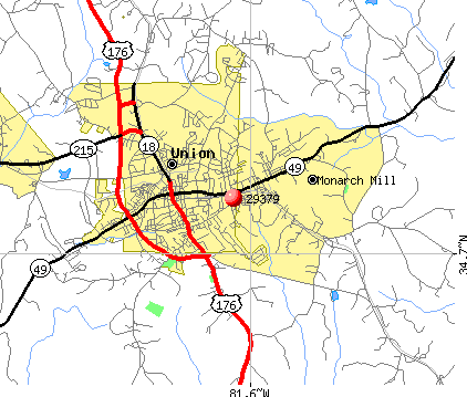 Union, SC (29379) map