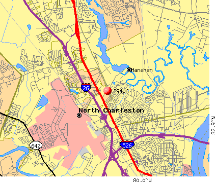 North Charleston, SC (29406) map