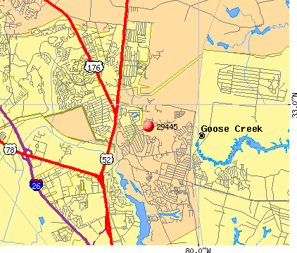 Goose Creek, SC (29445) map