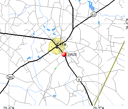 Clio, SC (29525) map