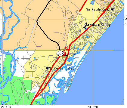 Murrells Inlet, SC (29576) map